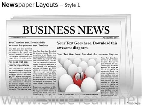 Editable Newspaper Slide Layout Powerpoint Themes Powerpoint Diagram Editable Newspaper Template