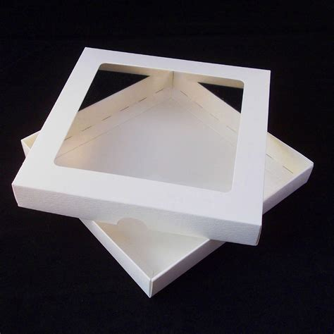 how to make card boxes 7x7 ivory greeting card boxes with aperture lid