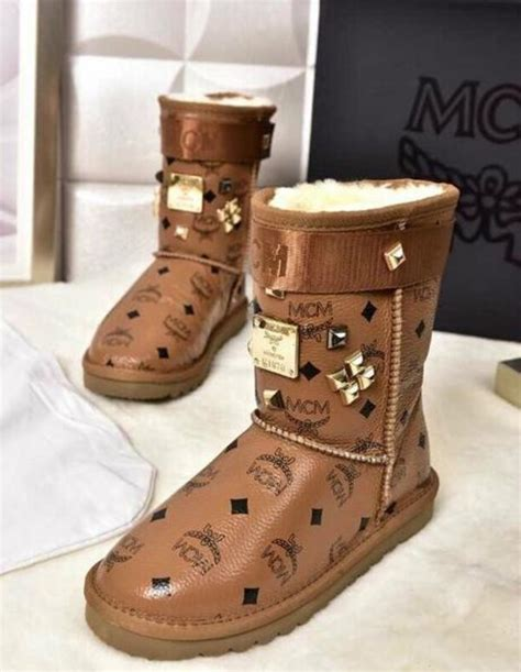 slippers that look like boots shoes boots mcm boots wheretoget