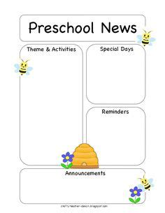newspaper theme preschool 1000 images about daycare forms assessment on pinterest