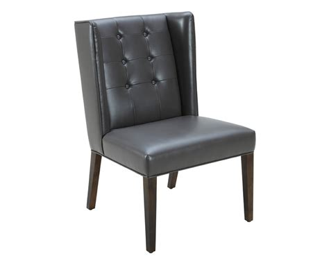 Grey Leather Dining Chair Clarkson Dining Chair Grey Leather