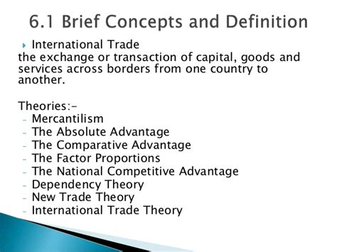International Trade Theory International Trade Theories And Trade Barriers