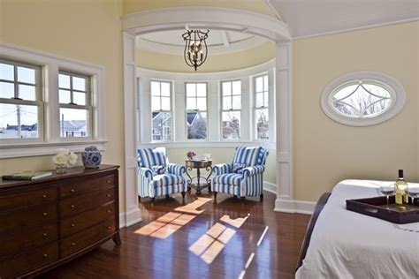 How To Furnish A Small Bedroom sitting area in round turret room hooked on houses