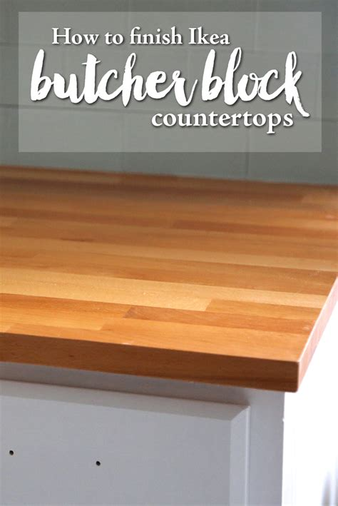 Finishing Butcher Block Countertops by How To Finish Butcher Block Countertops Weekend Craft