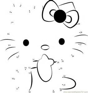 connect dots kitty 1 cartoons gt kitty dot dots kids