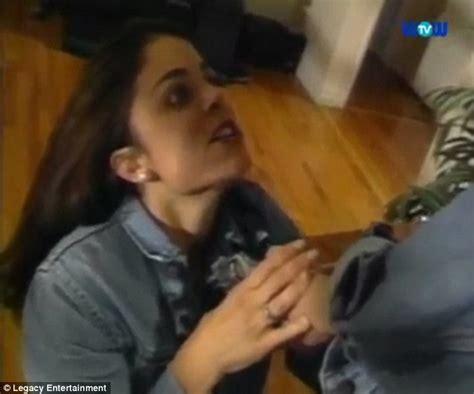 Salma hyek sex tape, The girl next door lesbian kiss
