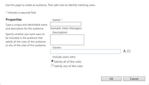 aturan membuat struktur organisasi mengelola profil pengguna di pusat admin sharepoint