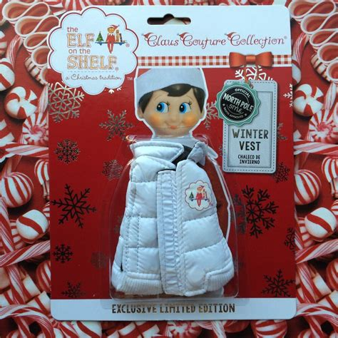 elf   shelf winter white puffer vest claus couture clothes  ebay