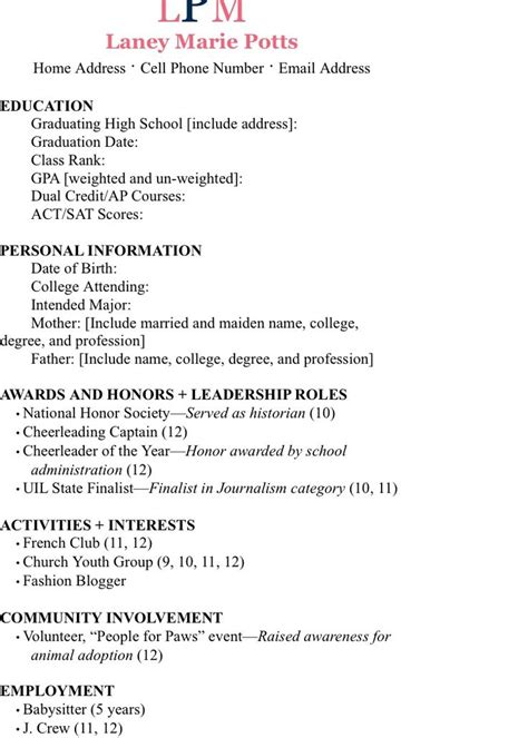 Interests To Put On A Resume Exles Resume Ideas Sorority Resume Template