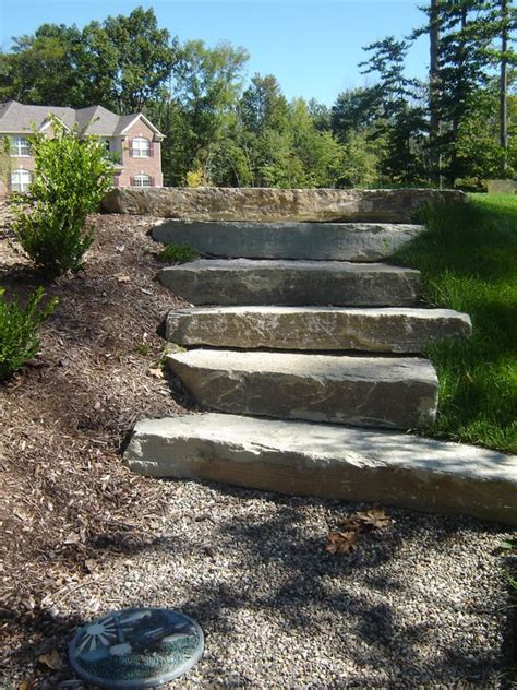 crushed granite pathway and limestone steps these steps are about 7 quot or 8 quot thick and 3 to 5