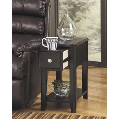 breegin chairside end table breegin black chairside end table z t007 371