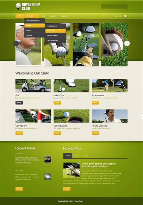 Golf Joomla Template Web Design Templates Website Templates Download Golf Joomla Template 42830 Golf Newsletter Templates