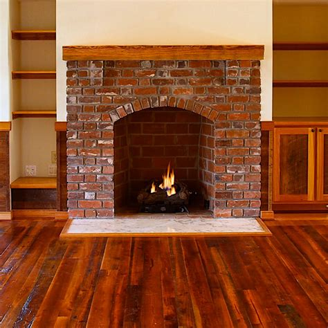 Rustic Fireplace by Pine Beams And Rustic Mantels E T Lumber