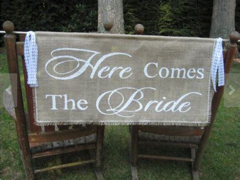 Burlap Wedding Banner Here Comes The by Here Comes The Banner Burlap Banner Burlap Wedding