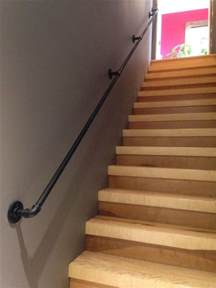 steel handrail 3 4 inch bought pipe and all hardware at