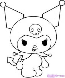 How To Draw Kuromi Step By Characters Pop Culture FREE  sketch template