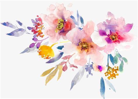 hand painted watercolor spring flowers spring flower