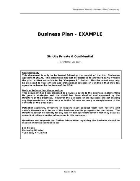 printable doc simple business plan template