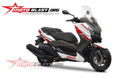 decal design yamaha xmax  white motoblast