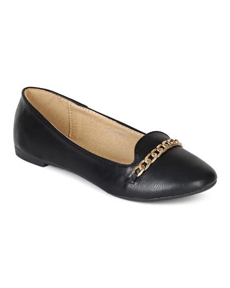 Big Ribbon Slipon shoes refresh bh49 leatherette toe chain
