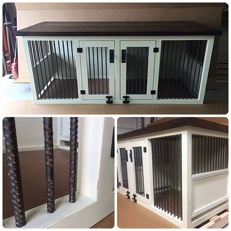 sofa table dog crate original double dog kennel
