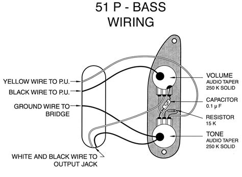 fender p bass 51 55 wiring mod help needed