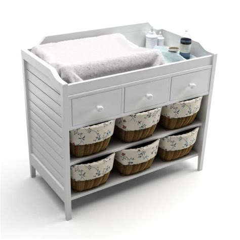 white change table white baby changing table 3d model cgtrader