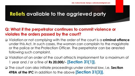 section 29 of domestic violence act protection of women from domestic violence pwdv act 2005 by adv su