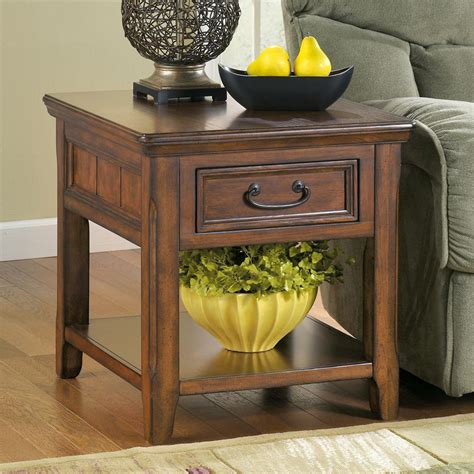 ashley furniture accent tables signature design by ashley woodboro rectangular end table