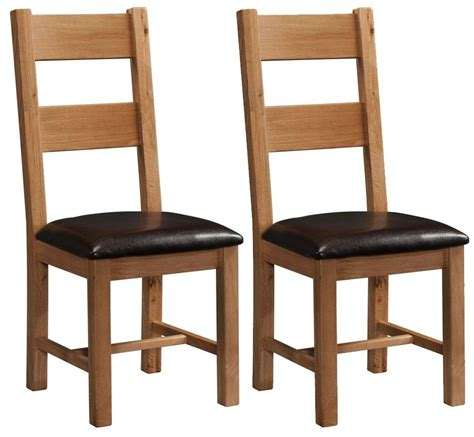 Rustic Oak Dining Chairs Buy Devonshire Rustic Oak Dining Chair Ladder Back Pair Cfs Uk