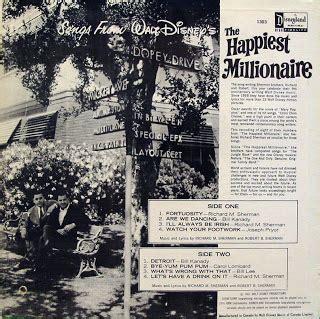 lyrics happiest millionaire the disneyland records walt disney s quot the happiest