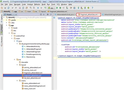listview layout animation xml android tutorial das swiperefreshlayout in android