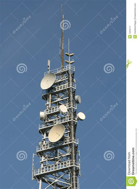 cell phone tower stock image image  blue phone