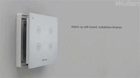 home automation wireless wall touch switch