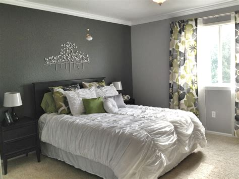 pictures of gray bedrooms grey master bedroom dark accent wall fun patterned
