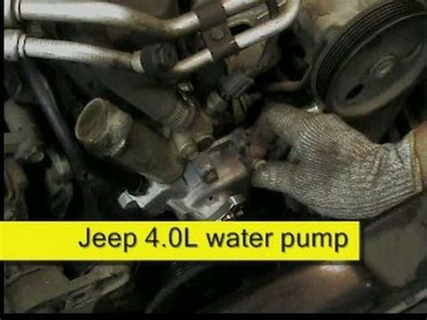 2001 jeep grand water jeep 4 0l water replacement how to diy