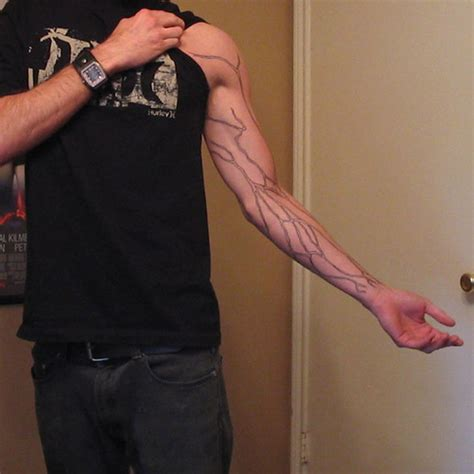 tattoo ink in the bloodstream arm veins flickr photo sharing