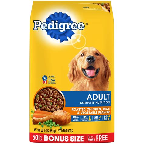 pedigree puppy food pedigree complete nutrition roasted chicken rice vegetable flavor