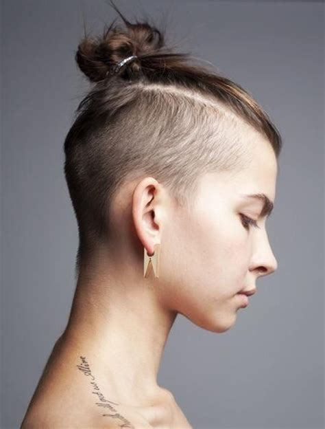 mens top knot undercut shaved top knot hair pinterest a well side shave