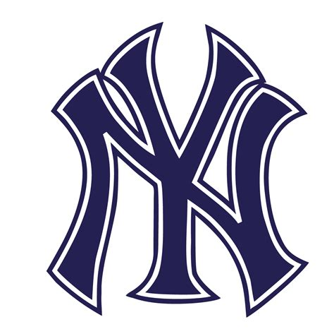 york yankees logo outline vinyl sticker