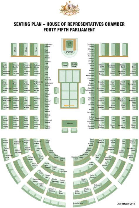 house of reps seating plan house of representatives seating plan parliament of australia