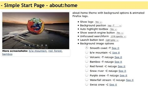 firefox home screen themes easily customize firefox s look and feel with stylish