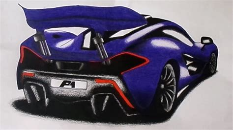 mclaren drawing mclaren p1 drawing time lapse youtube