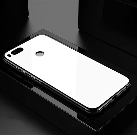Tempered Back Cover Mirror Xiaomi original bakeey tempered glass mirror back cover soft tpu