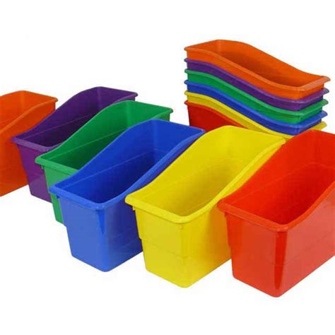 picture book bins book bins plastic multi color set of 6