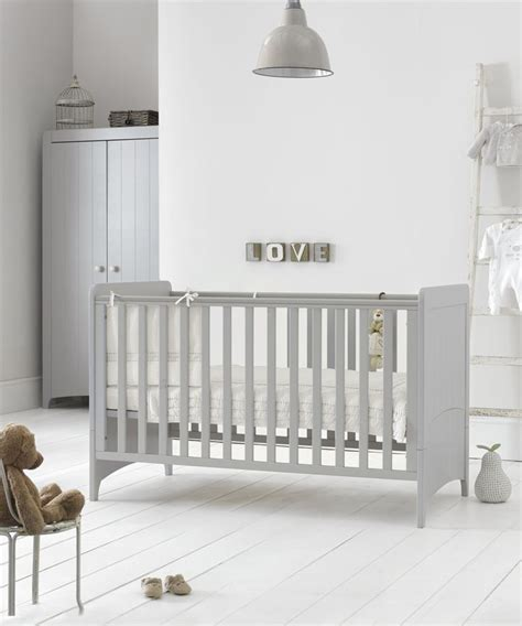 mothercare baby bedroom furniture mothercare meadow cot bed pebble grey grey beds and cots