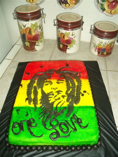 jamaican themed party food bob marley bedding rasta bob marley cake kelz cakes pinterest bob marley
