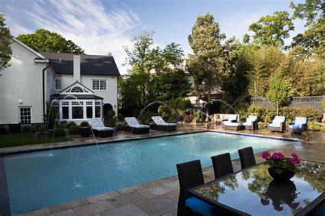 alexandria house stunning backyard and pool addition in alexandria virginia bowa