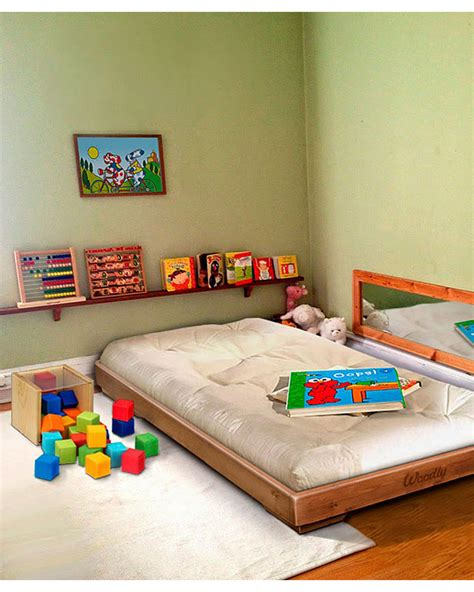 montessori bed woodly pure montessori bed small natural made in italy