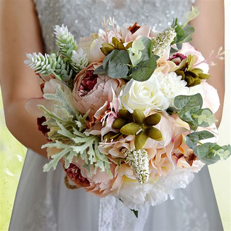 Handmade Flowers For Wedding - handmade bridal wedding bouquet silk flower
